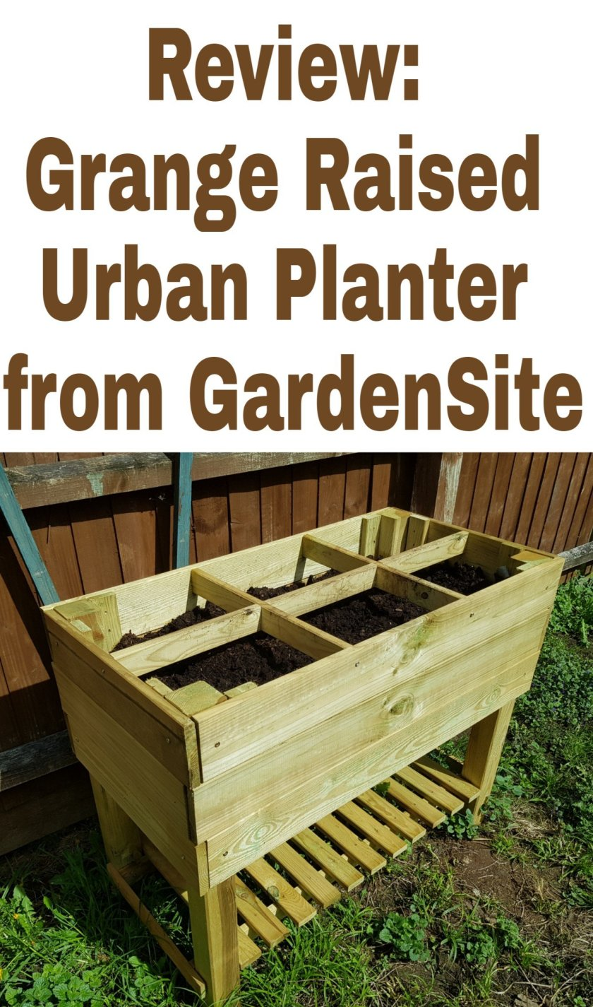 Grange Raised Urban Planter from Gardensite title with image of planter