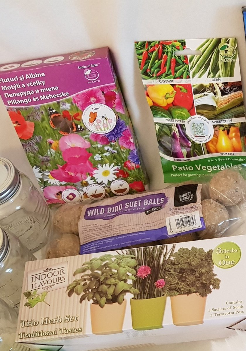 A selection of gardening supplies for indoors and outdoors