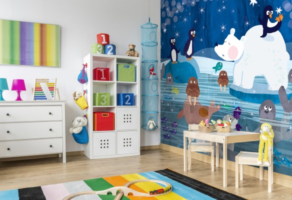 Arctic puzzle kids wallpaper mural