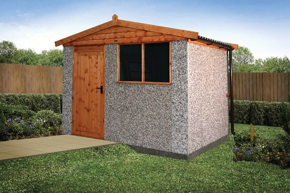 A solid shed for storage