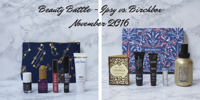 Ipsy vs. Birchbox November 2016