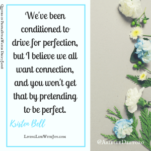Kristen Bell quote on perfection