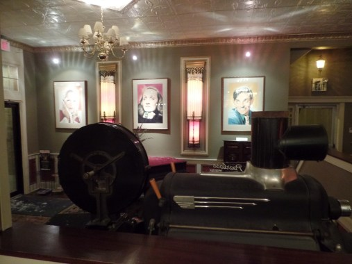 An old film projecter that they have in their lobby!