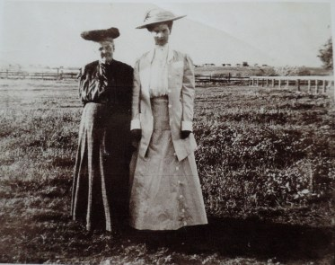 A photo from a different day of Irene (right) with her mother.