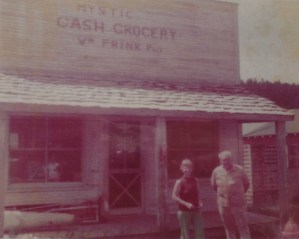 My grandmother Helen and Bill Frink in front of the store. The building has since been moved to Hill City in order to attract tourists.
