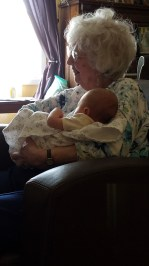 My grandma - his GG!!! - is a baby whisperer.