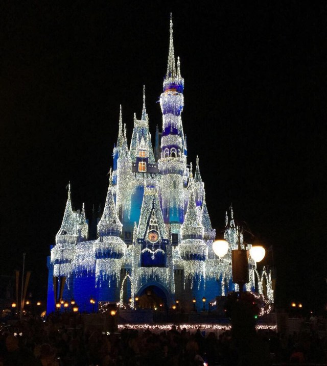 The Spectacular Christmas Light Display on Cinderella's Castle.