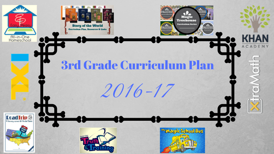3rd Grade Curriculum Plan (2016-17)