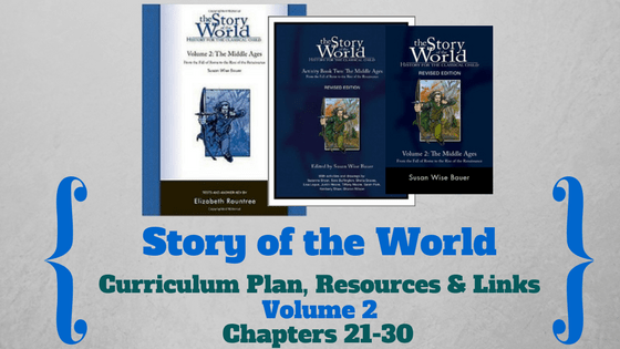 Story of the World: Volume 2- Curriculum Plan, Resources and Links (Chapters 21-30)