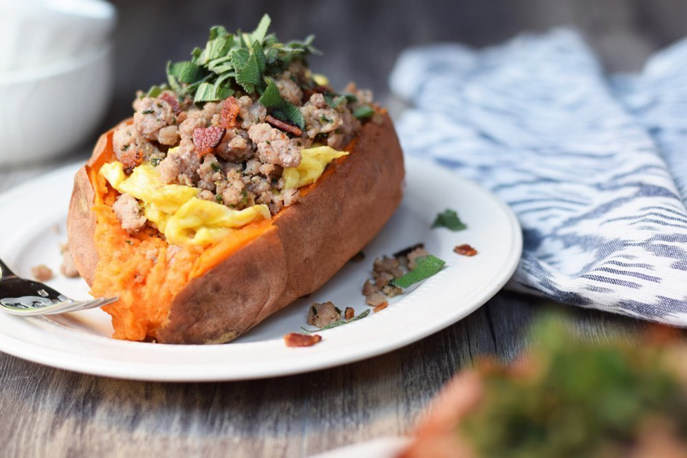 Maple Pork & Sage Loaded Breakfast Potatoes