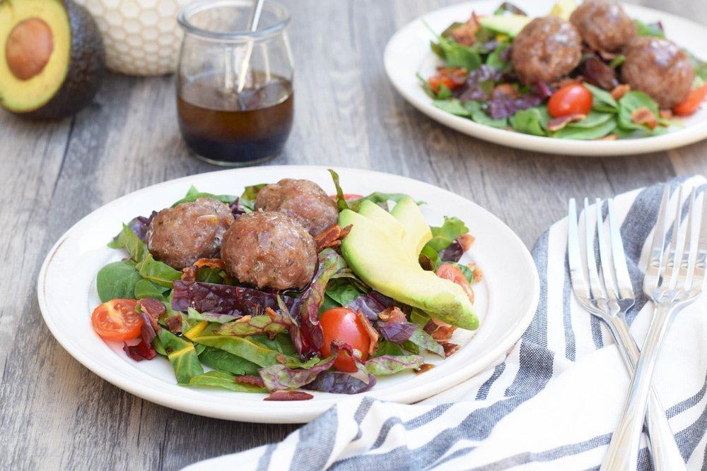 Breakfast Salad With Maple Balsamic Vinaigrette
