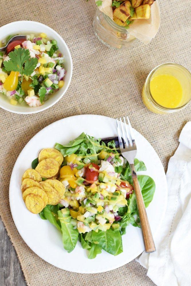 Ceviche Salad With Mango Vinaigrette