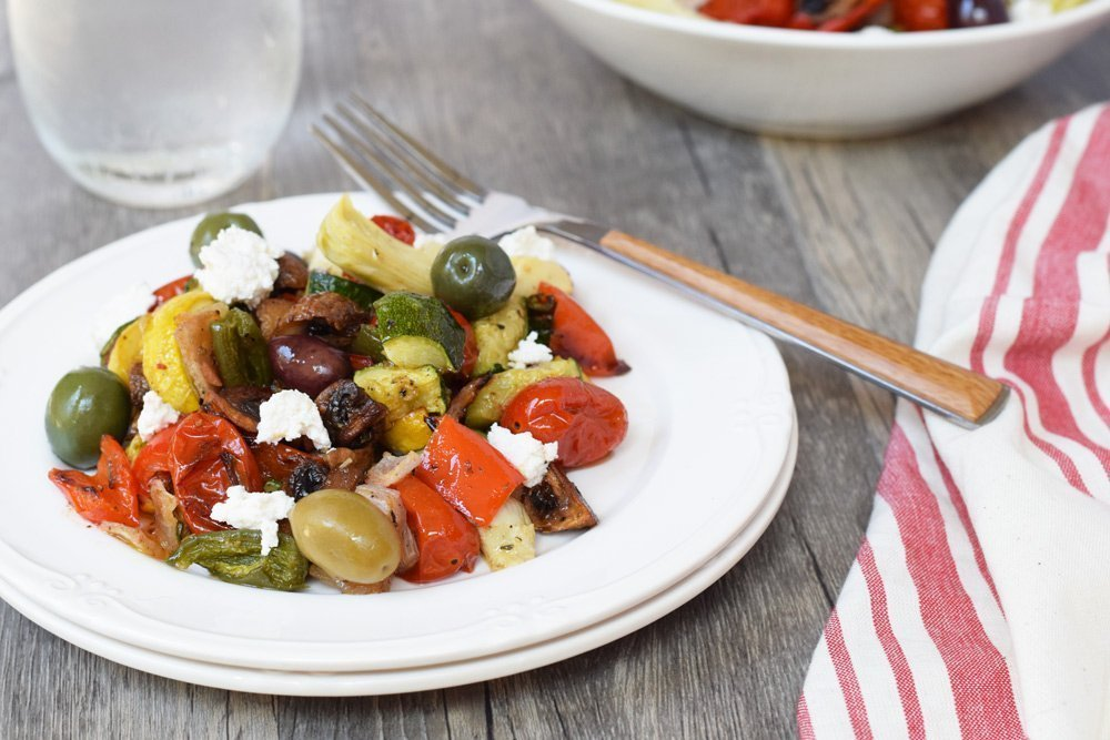 Italian Roasted Veggie Salad