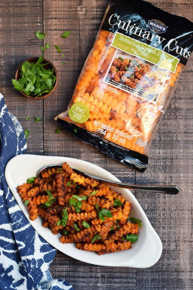 Cajun Spiced Butternut Squash Zig Zags + Win a $250 Amazon Gift Card
