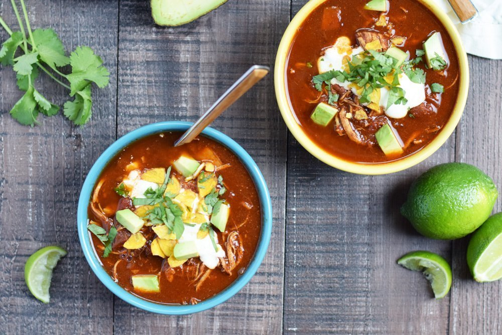 Chicken Enchilada Soup (Instant Pot or Slow Cooker)