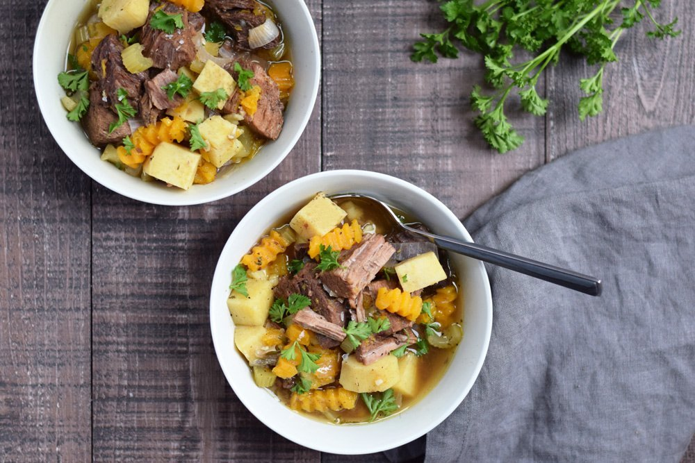 Balsamic Beef Stew (Instant Pot or Slow Cooker)