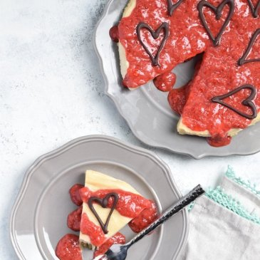 Dairy-free Strawberry Cheesecake