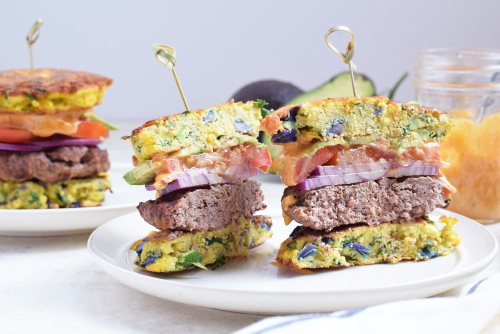 Loaded Veggie Burger Buns