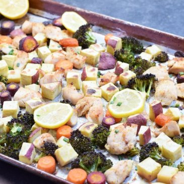 Lemon Chicken Sheet Pan Dinner