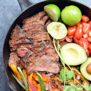 One-pan Steak Fajitas