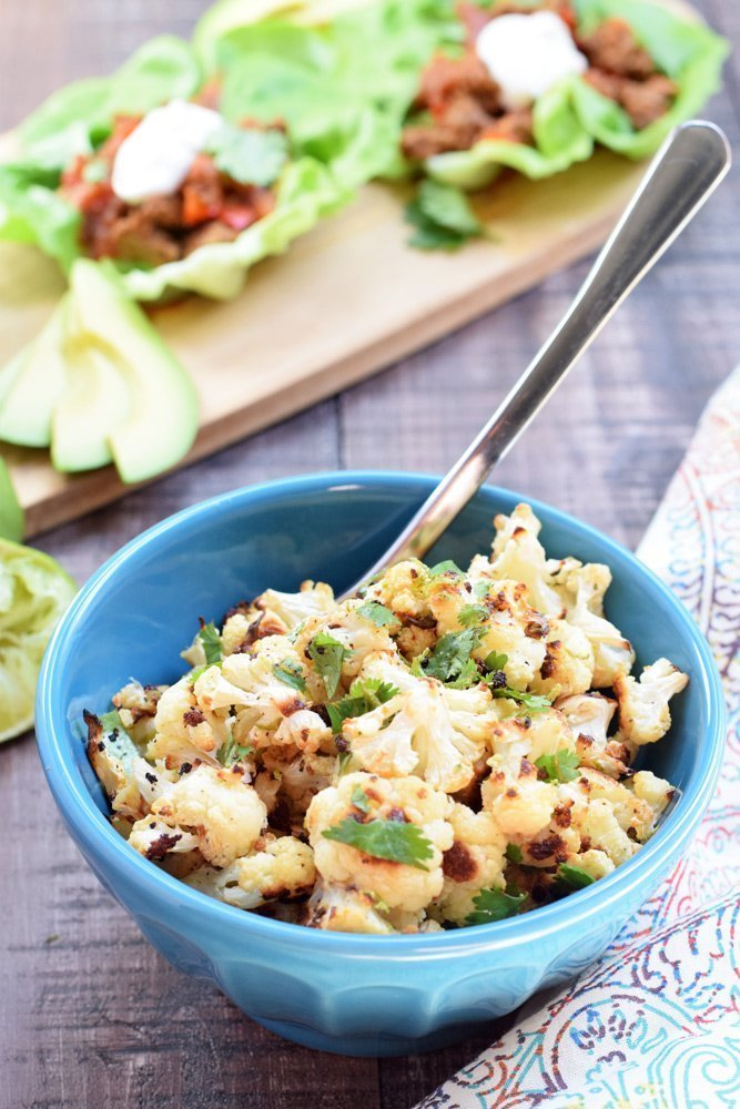 Cilantro Lime Roasted Cauliflower