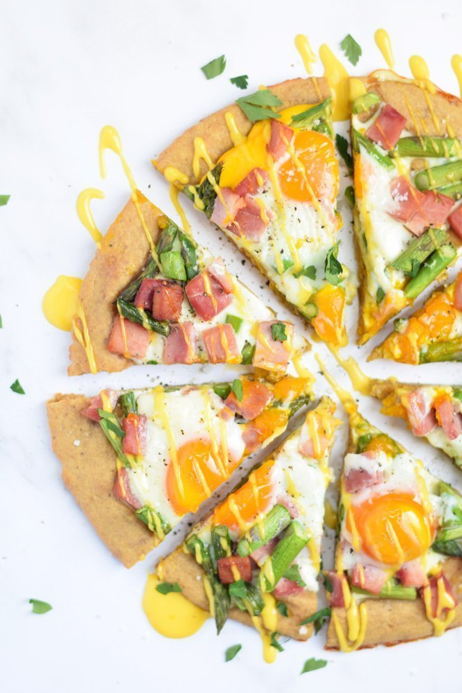 Breakfast Benedict Pizza