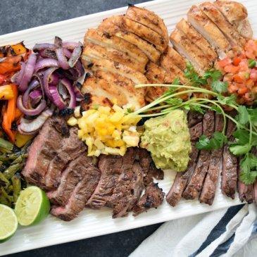 Grilled Chicken + Steak Fajitas