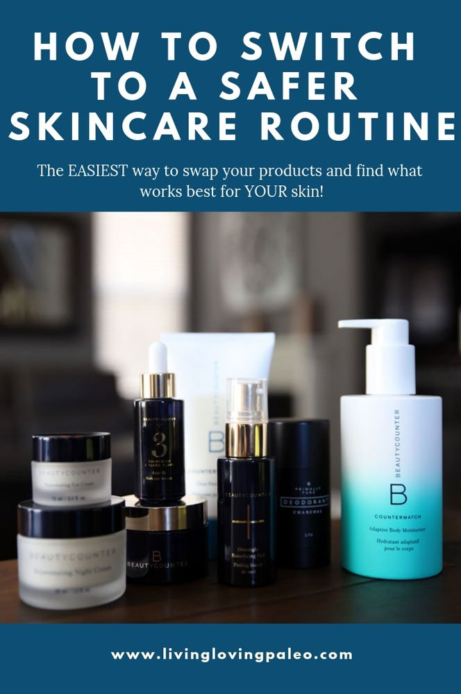I know how overwhelming it can be to switch to new beauty products but here are some of my tips on how to start a safer skin care routine! #skincareroutine #beautytips #beautycounter