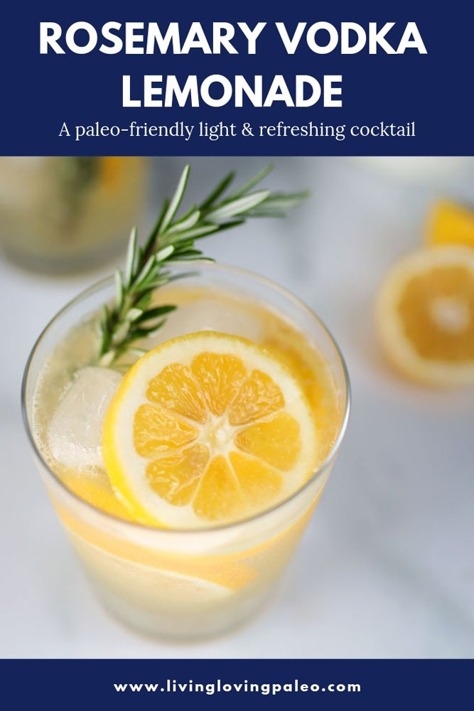 I don't love sugary or artificially flavored anything which is why I create healthy alternatives. Try this Rosemary Vodka Lemonade with homemade syrup! #vodkalemonade #glutenfree #cocktails