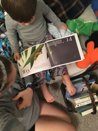 Reading books before nap!