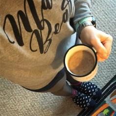 My awesome new Mama Bear sweatshirt and Blessed mug :) Thanks Morgan!!