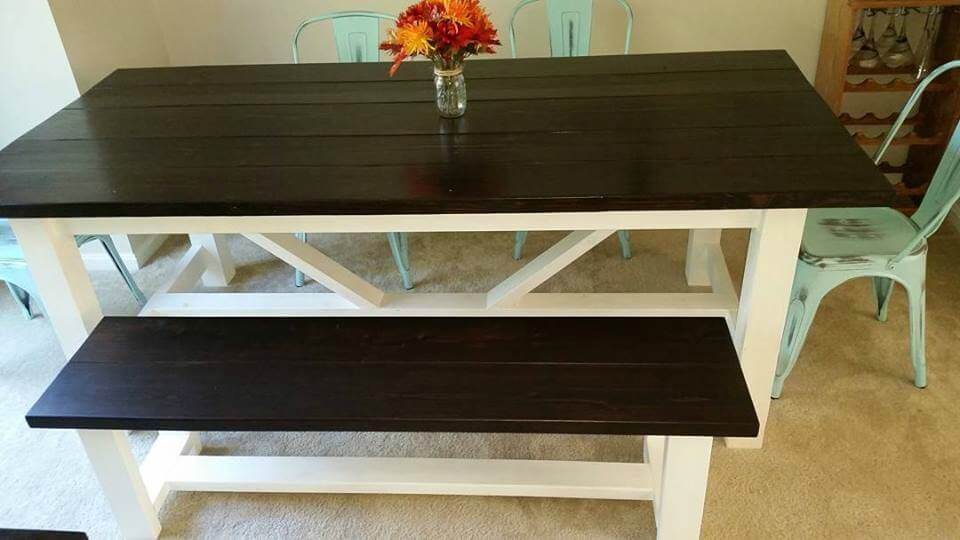 Build your own farmhouse table living low key for Build your own farmhouse