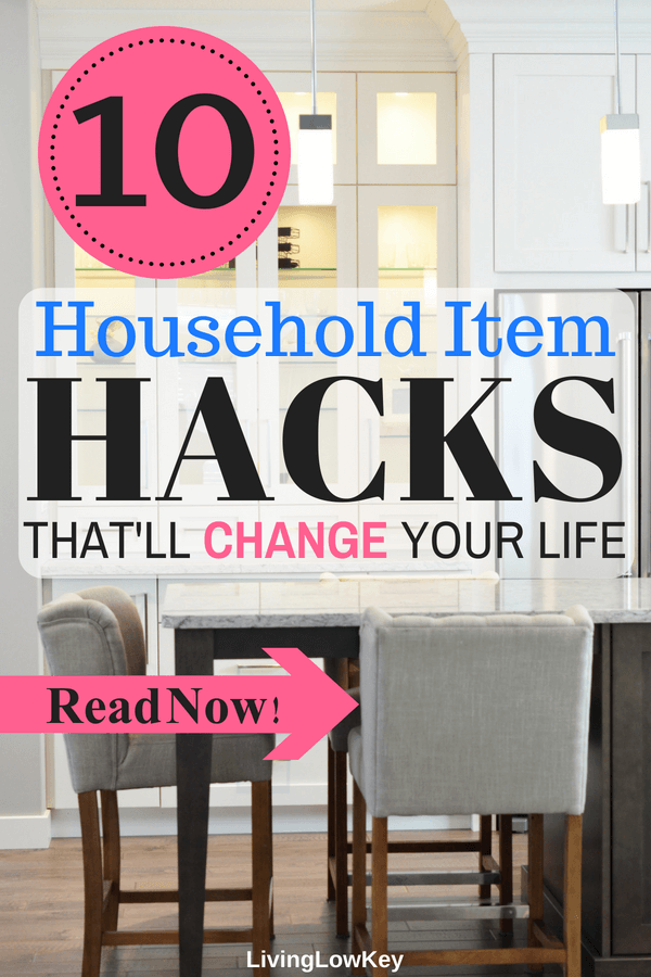 I love these household item life hacks! 10 life changing, mind blowing household hacks you wish you would have thought of first. I'm so lucky I found these great tips on how to hack my household items so I can spend less and save more money.