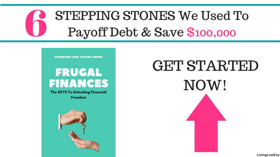 6 Steps we used to pay off debt and save over $100,000. If you need help saving money or paying off debt, our ebook is going to be your best friend.