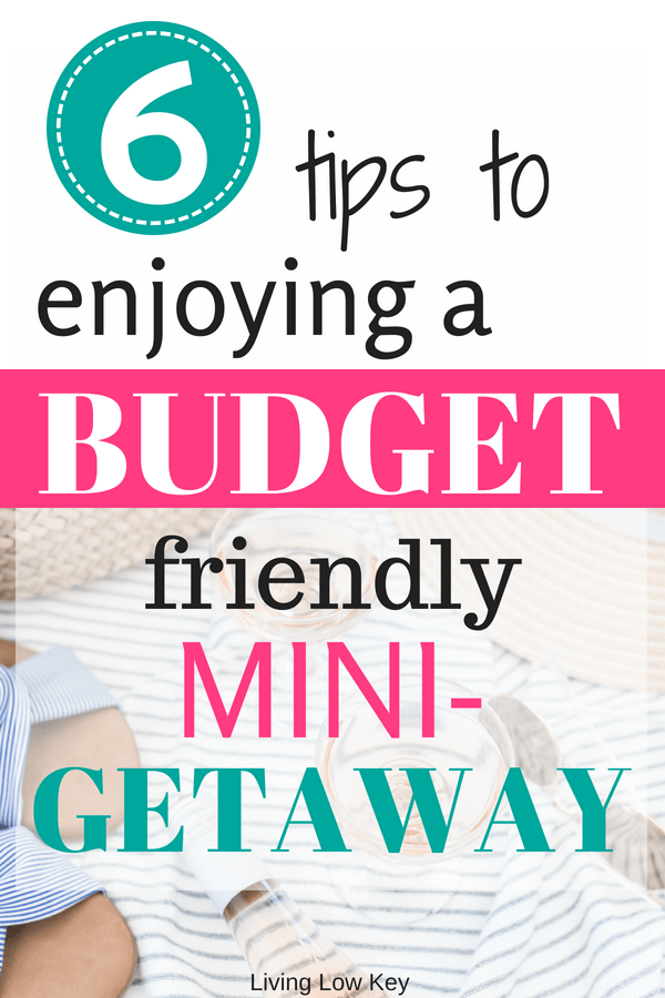 Need cheap mini vacation ideas on a budget? Here are 6 easy tips for enjoying a budget-friendly mini getaway. These budgeting tips are genius and sure to save you money on a fun weekend trip! Make sure to check them out here!