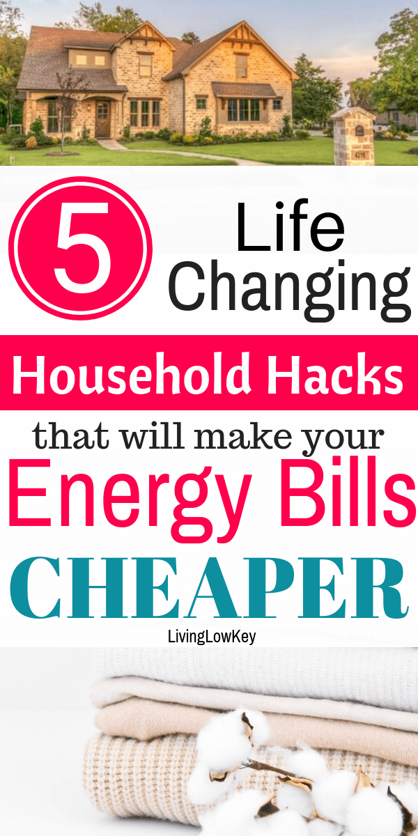 These 5 life-changing household hacks that will make your energy bills cheaper are the BEST! I'm so glad I found these great tips! Use these helpful hints to save money on your energy bills this winter.