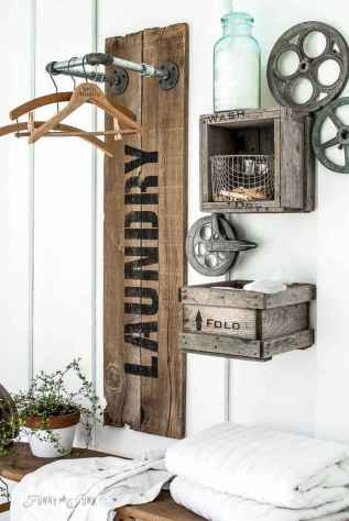 40+ beautiful rustic laundry room design ideas for your home (41)