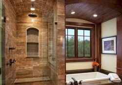 40 homely rustic bathroom ideas to warm you up this winter (11)