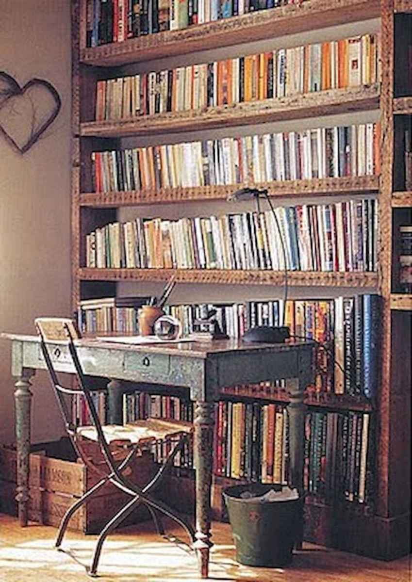 40+ stunning home libraries with rustic design (3)