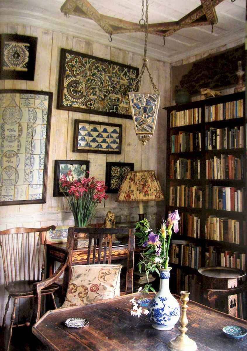 40+ stunning home libraries with rustic design (31)