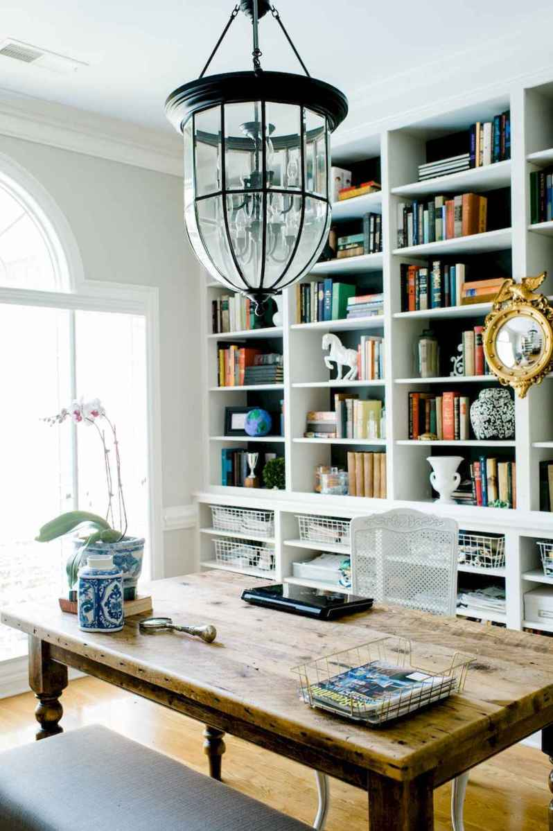 40+ stunning home libraries with rustic design (33)