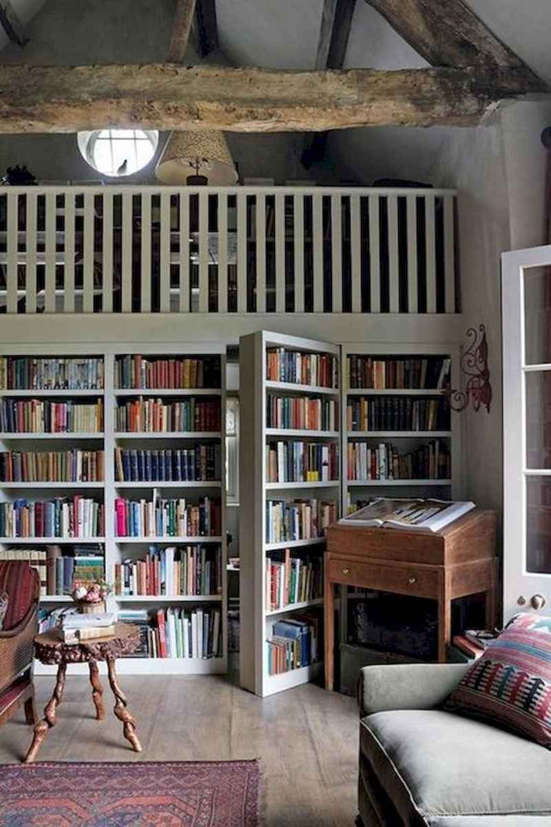 40+ stunning home libraries with rustic design (43)