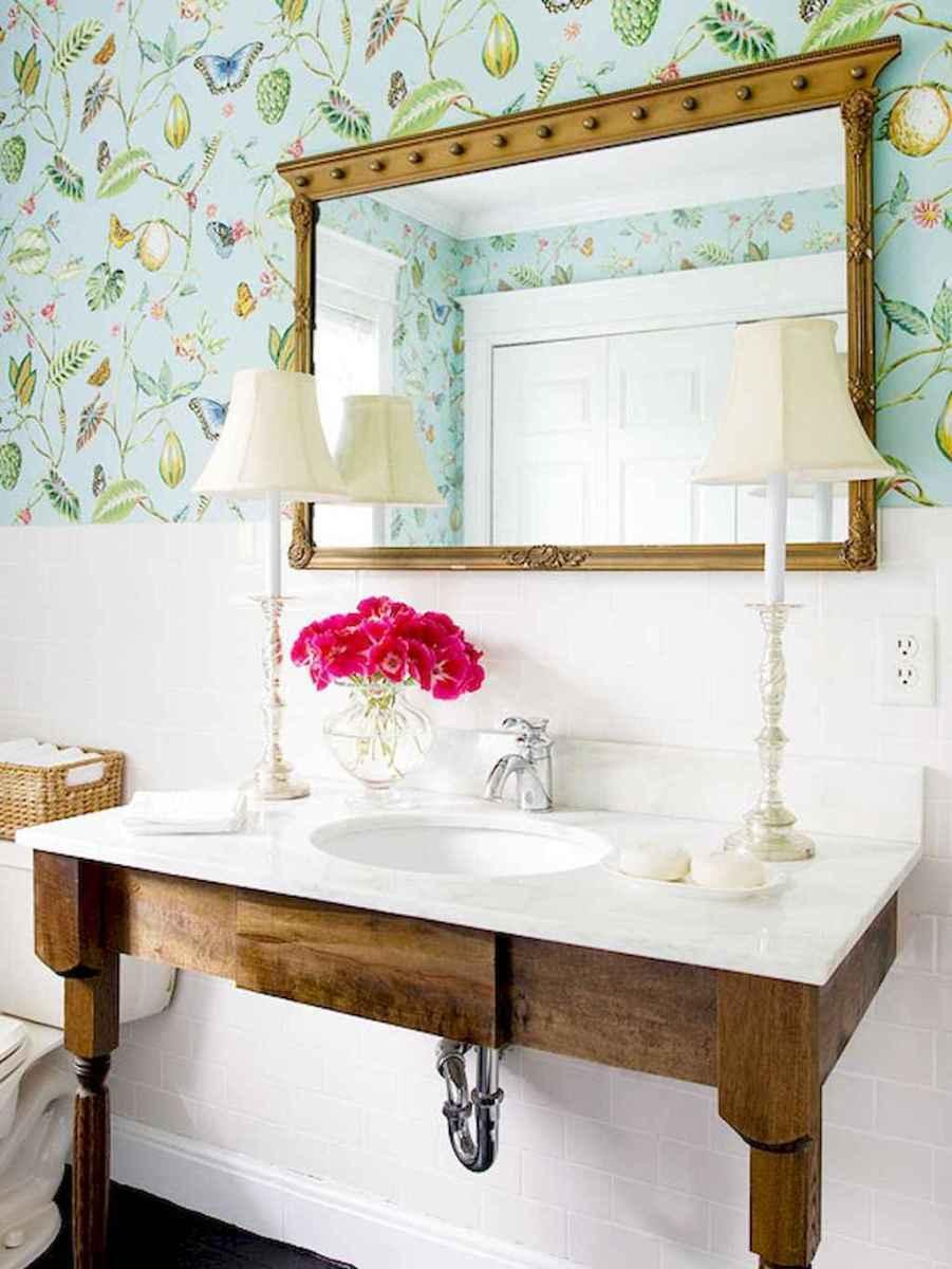 60+ beautiful vintage powder room ideas (18)