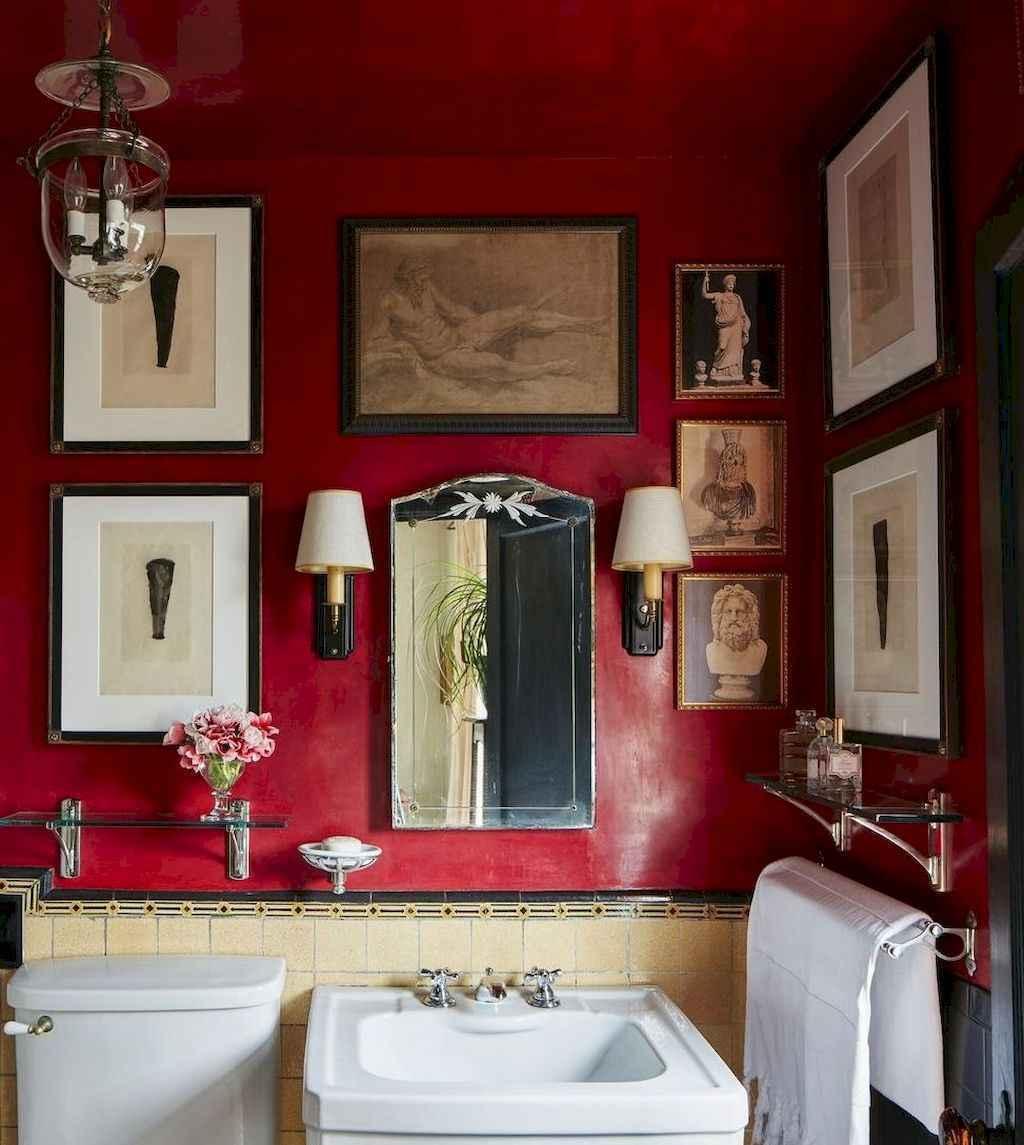 60+ beautiful vintage powder room ideas (6)