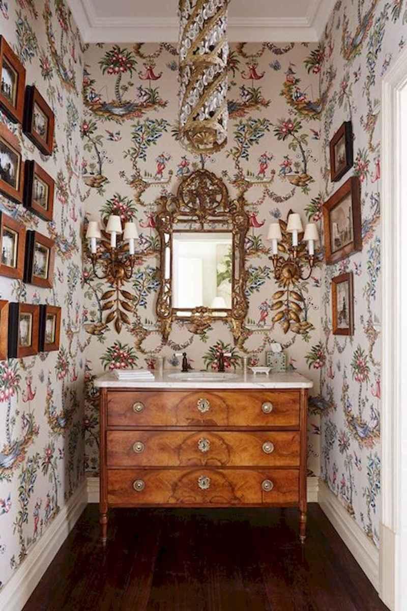 60+ beautiful vintage powder room ideas (7)