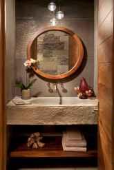 60 cool rustic powder room design ideas (57)