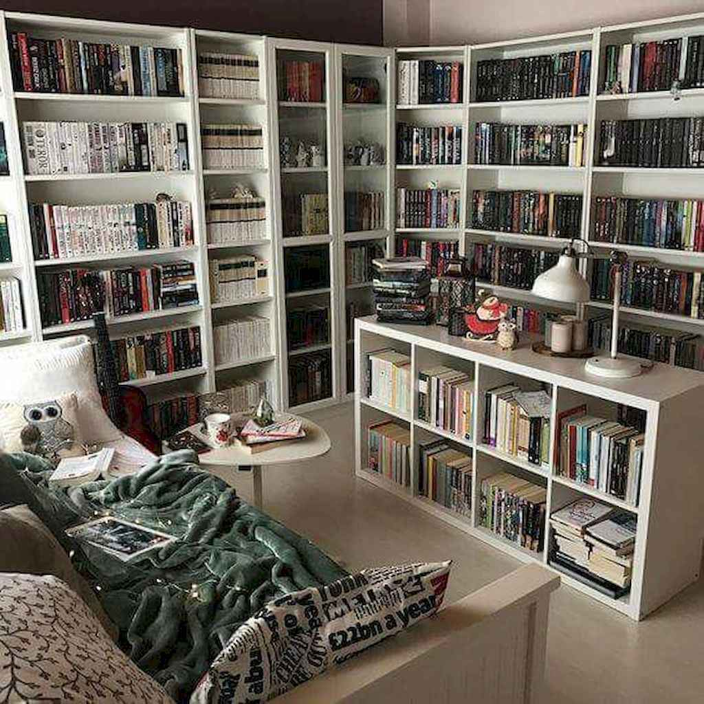 Cool home library design ideas (10)