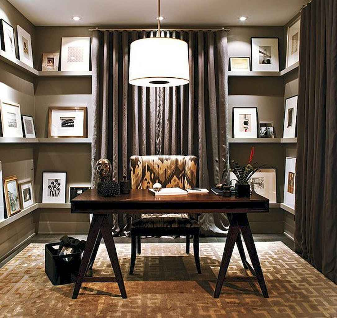 Cool home library design ideas (19)