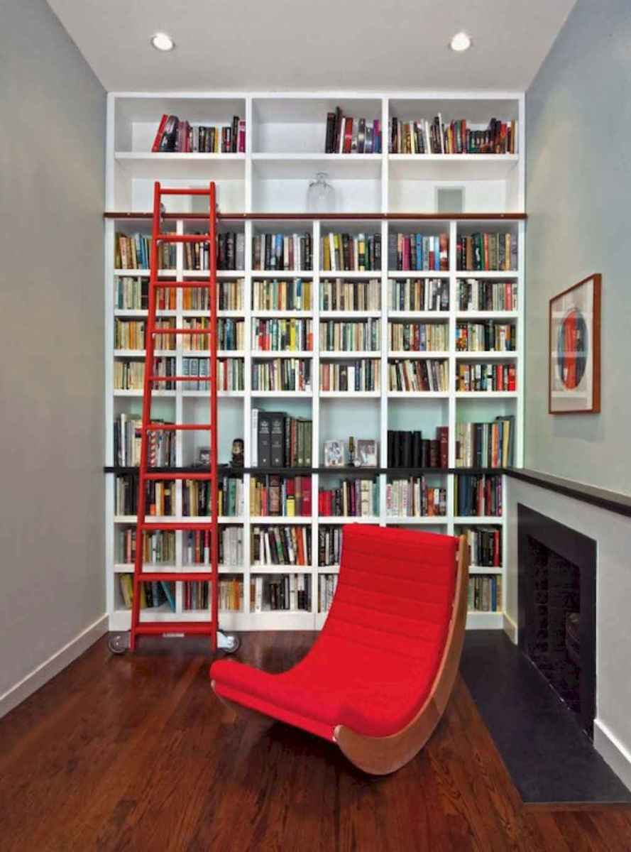 Cool home library design ideas (25)
