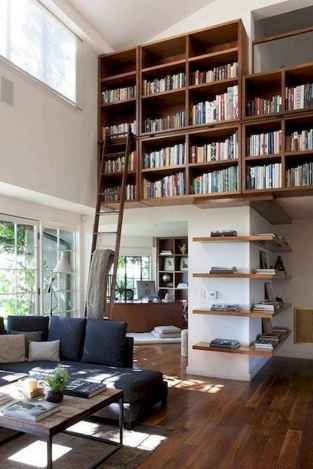 Cool home library design ideas (49)